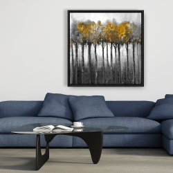 Framed 36 x 36 - Illuminated forest