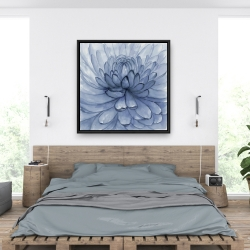 Framed 36 x 36 - Blue petals flower
