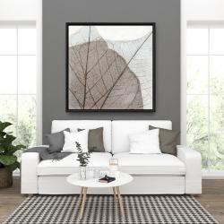 Framed 36 x 36 - Translucent dried leaves