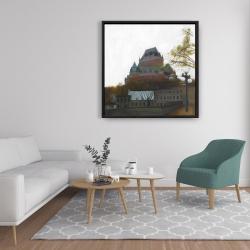Framed 36 x 36 - Le château de frontenac in autumn