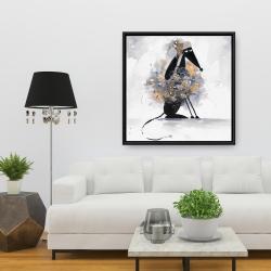 Framed 36 x 36 - Afghan hound dog in cartoon