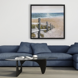 Framed 36 x 36 - Soft seaside