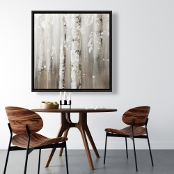 Framed 36 x 36 - Delicate birch trees