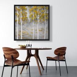 Framed 36 x 36 - Birch forest