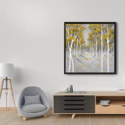 Framed 36 x 36 - Yellow birch forest