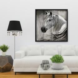 Framed 36 x 36 - Rustic horse
