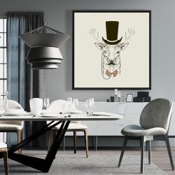 Framed 36 x 36 - Aristocrat roe deer