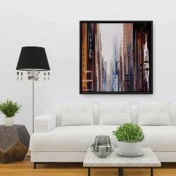 Framed 36 x 36 - Abstract buildings