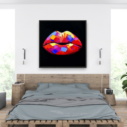 Framed 36 x 36 - Colorful lipstick