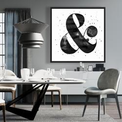 Framed 36 x 36 - Ampersand