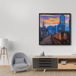 Framed 36 x 36 - Subway in new-york city