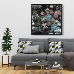 Framed 36 x 36 - Succulent set