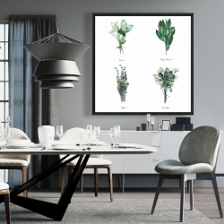 Framed 36 x 36 - Fine herbs