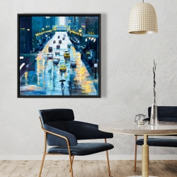 Framed 36 x 36 - Rainy streets of new york