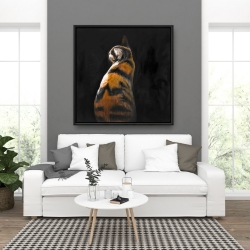 Framed 36 x 36 - Spotted cat