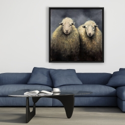 Framed 36 x 36 - Wool sheeps