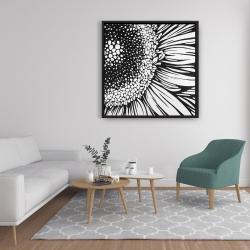 Framed 36 x 36 - Gerbera flower