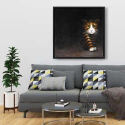 Framed 36 x 36 - Discreet cat