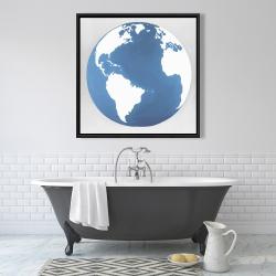 Framed 36 x 36 - The earth