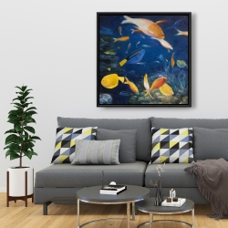 Framed 36 x 36 - Colorful fish under the sea