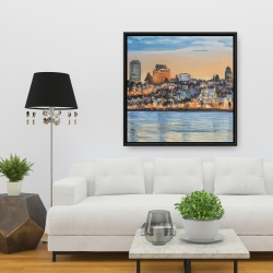 Framed 36 x 36 - Skyline of quebec city