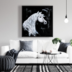 Framed 36 x 36 - Horse profile view