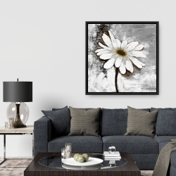 Framed 36 x 36 - Abstract daisy