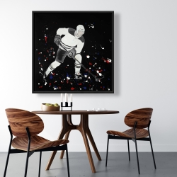 Framed 36 x 36 - Hockey player ready for action