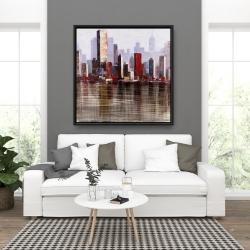 Framed 36 x 36 - Industrial city