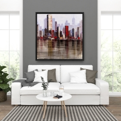 Framed 36 x 36 - Industrial city style