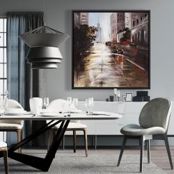 Framed 36 x 36 - Morning street scene