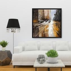 Framed 36 x 36 - Abstract city street
