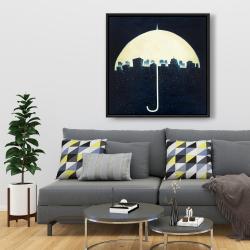 Framed 36 x 36 - The city under the umbrellas