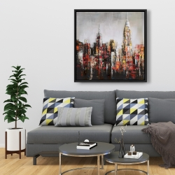 Framed 36 x 36 - Paint splash city