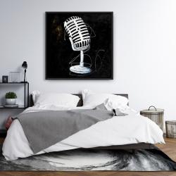 Framed 36 x 36 - Microphone