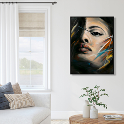 Framed 36 x 48 - Abstract woman portrait