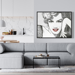 Framed 36 x 48 - Vintage style marilyn monroe
