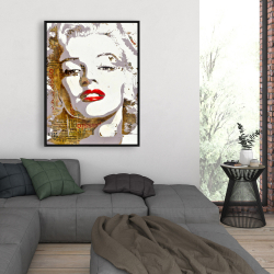Framed 36 x 48 - Marilyn monroe with typography