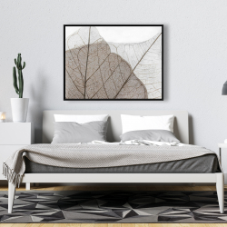 Framed 36 x 48 - Translucent dried leaves