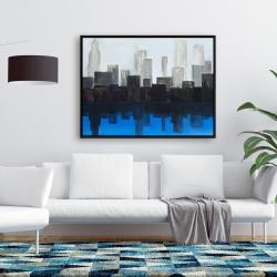 Framed 36 x 48 - Blue city