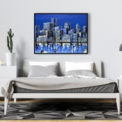Framed 36 x 48 - City in blue