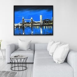 Framed 36 x 48 - Blue skyline of london