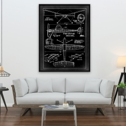 Framed 36 x 48 - Airplane construction plan