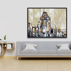 Framed 36 x 48 - Abstract château frontenac