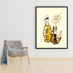 Framed 36 x 48 - Two bottles of olive oil