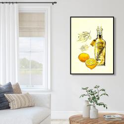 Framed 36 x 48 - Olive oil and lemons
