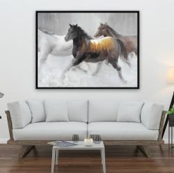 Framed 36 x 48 - Herd of wild horses