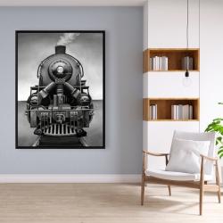 Framed 36 x 48 - Black and white train