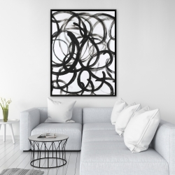 Framed 36 x 48 - Abstract curly lines