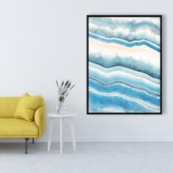 Framed 36 x 48 - Textured geode